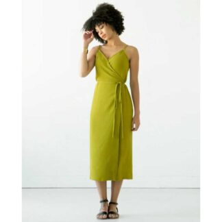 calvin wrap dress schnittmuster