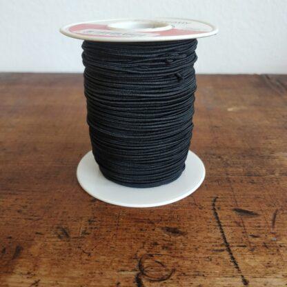 gummikordel schwarz, 2mm, rolle