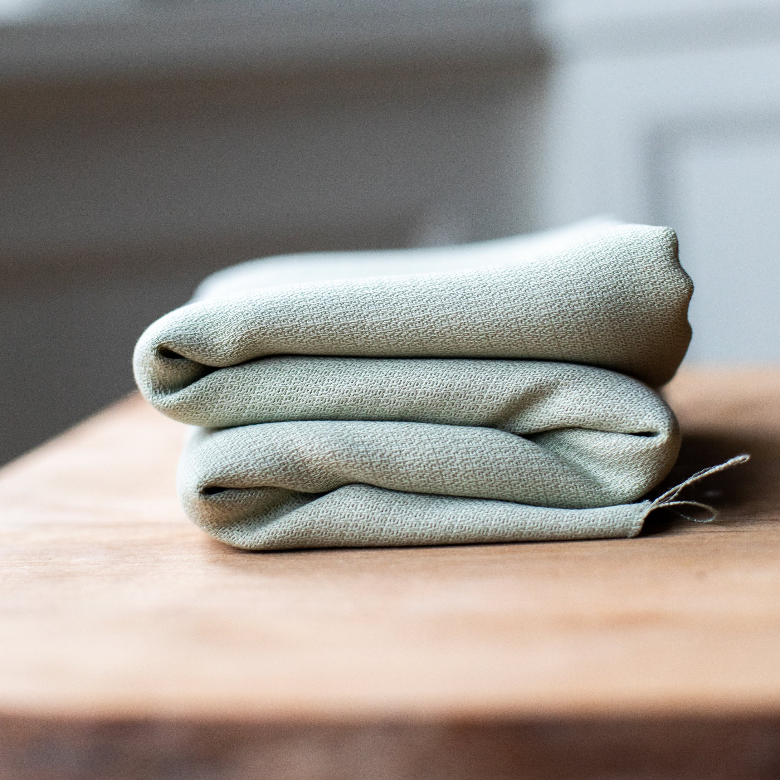 soft grain jaquard mint