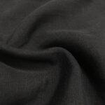 slub linen blend black