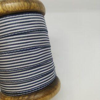 band mit wellenkante blau/weiss gestreift