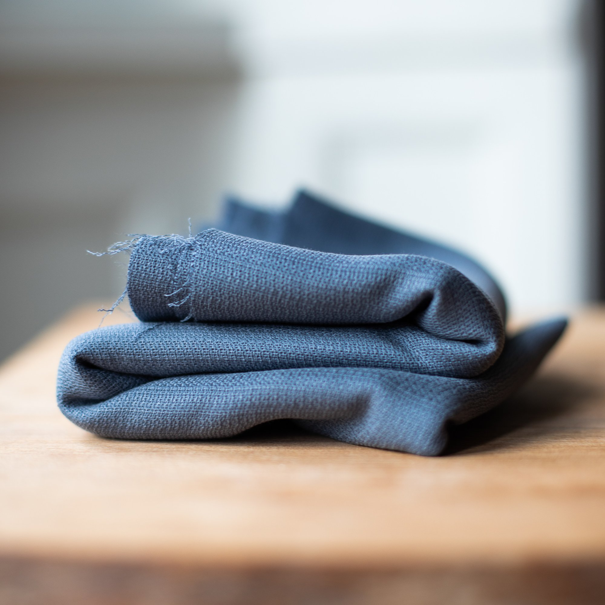 soft grain jaquard raucblau