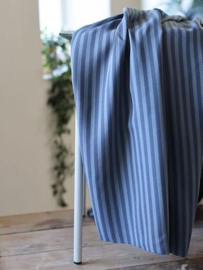 two tone stripe twill DUSTY BLUE