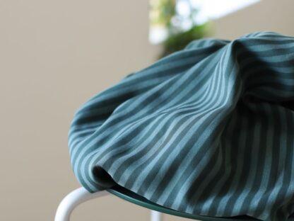 two tone stripe twill deep green