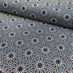 popeline orientalisch blau