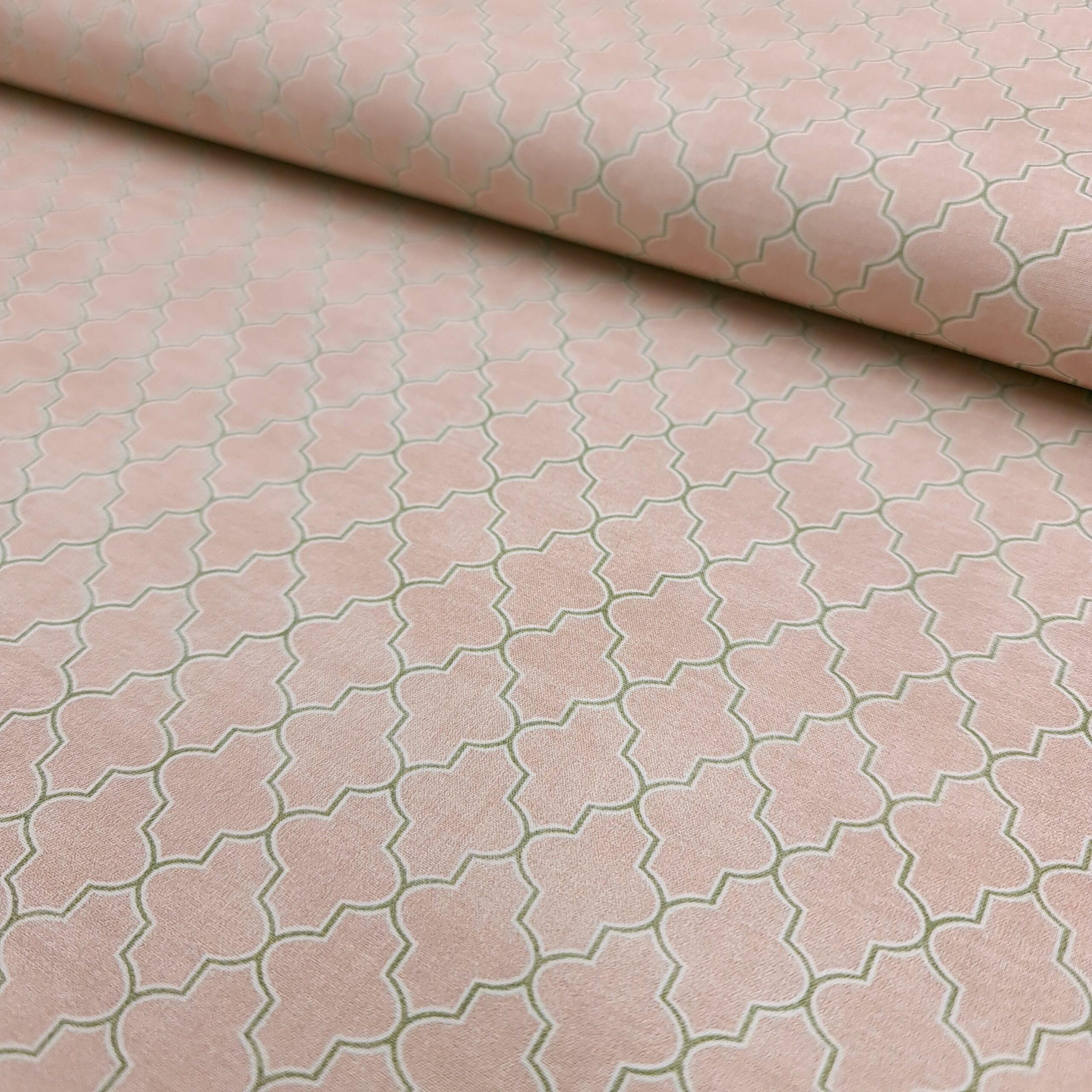 grafisch rosa/grün baumwoll popeline