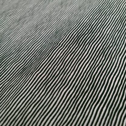 schwarz weiss gestreift baumwolle