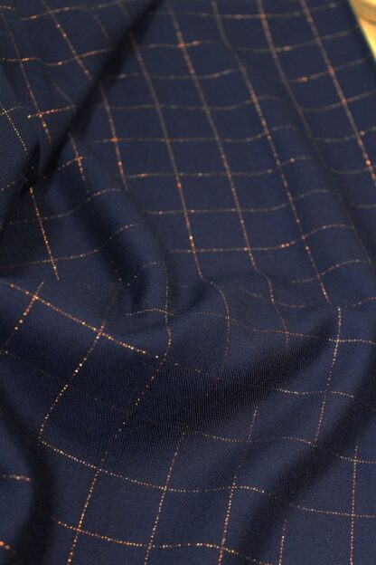 carreaux lurex bleu - eglantine & zoe