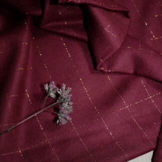 carreaux lurex bordeaux - eglantine & zoe