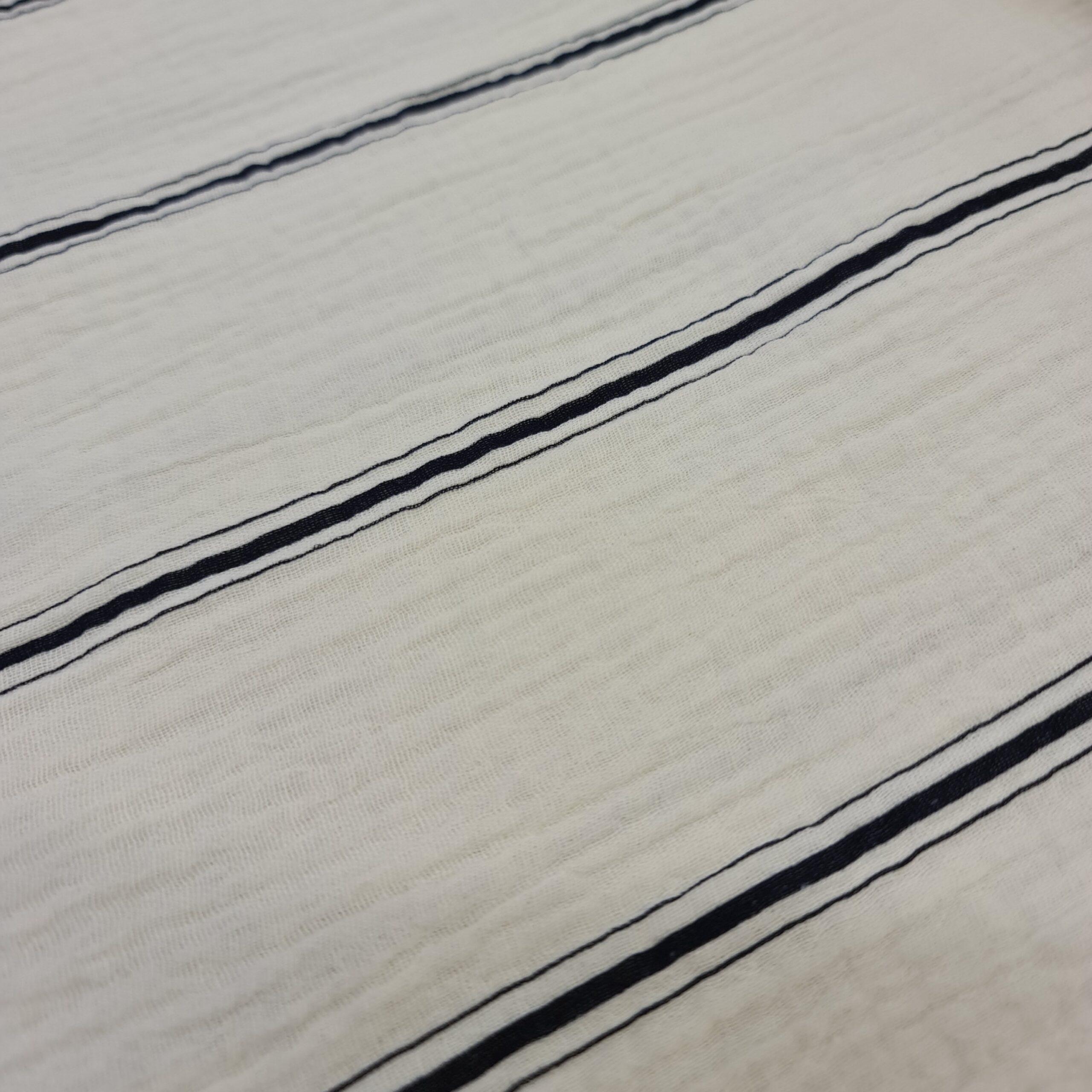 mousseline streifen schwarz fibre mood
