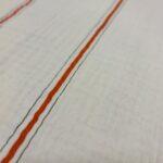 mousseline streifen rot/grün fibre mood