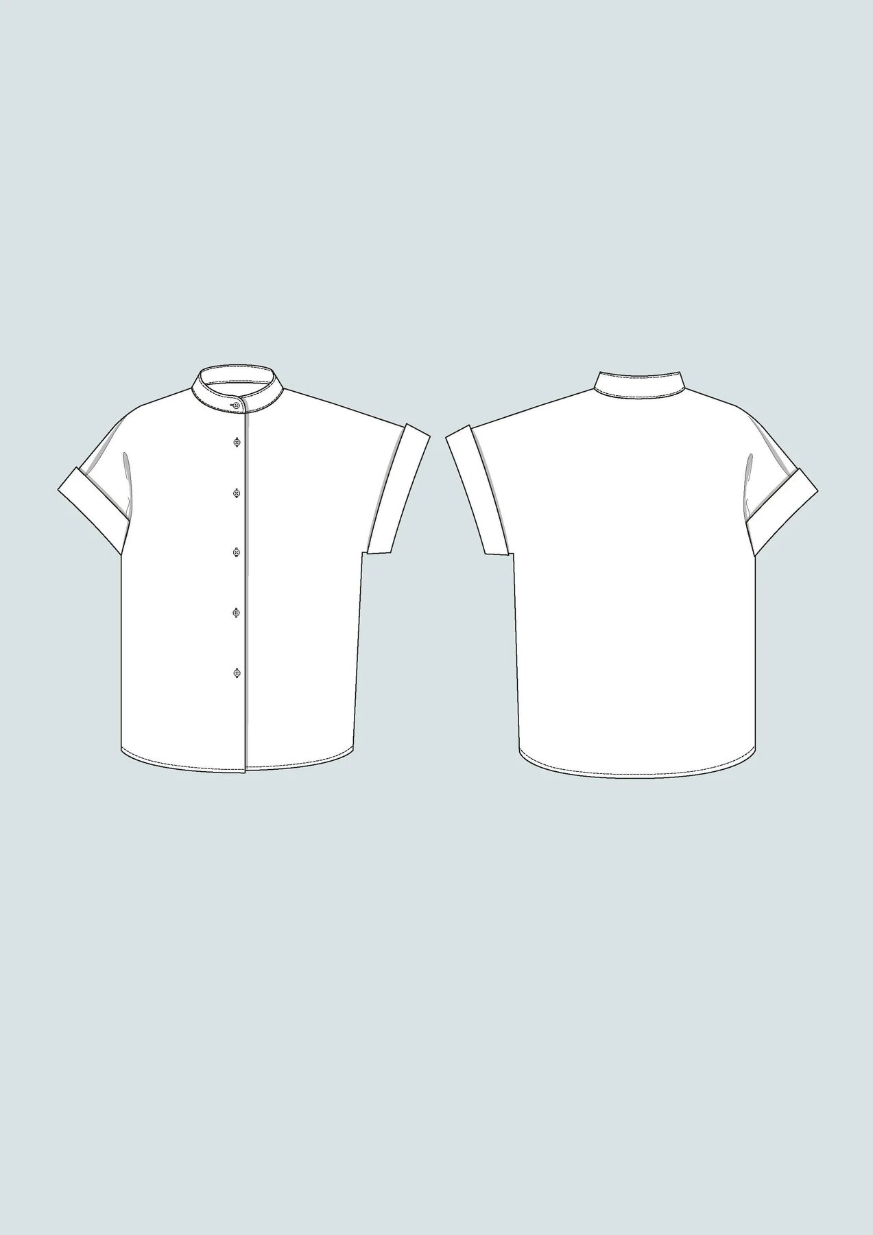 cap sleeve shirt schnittmuster