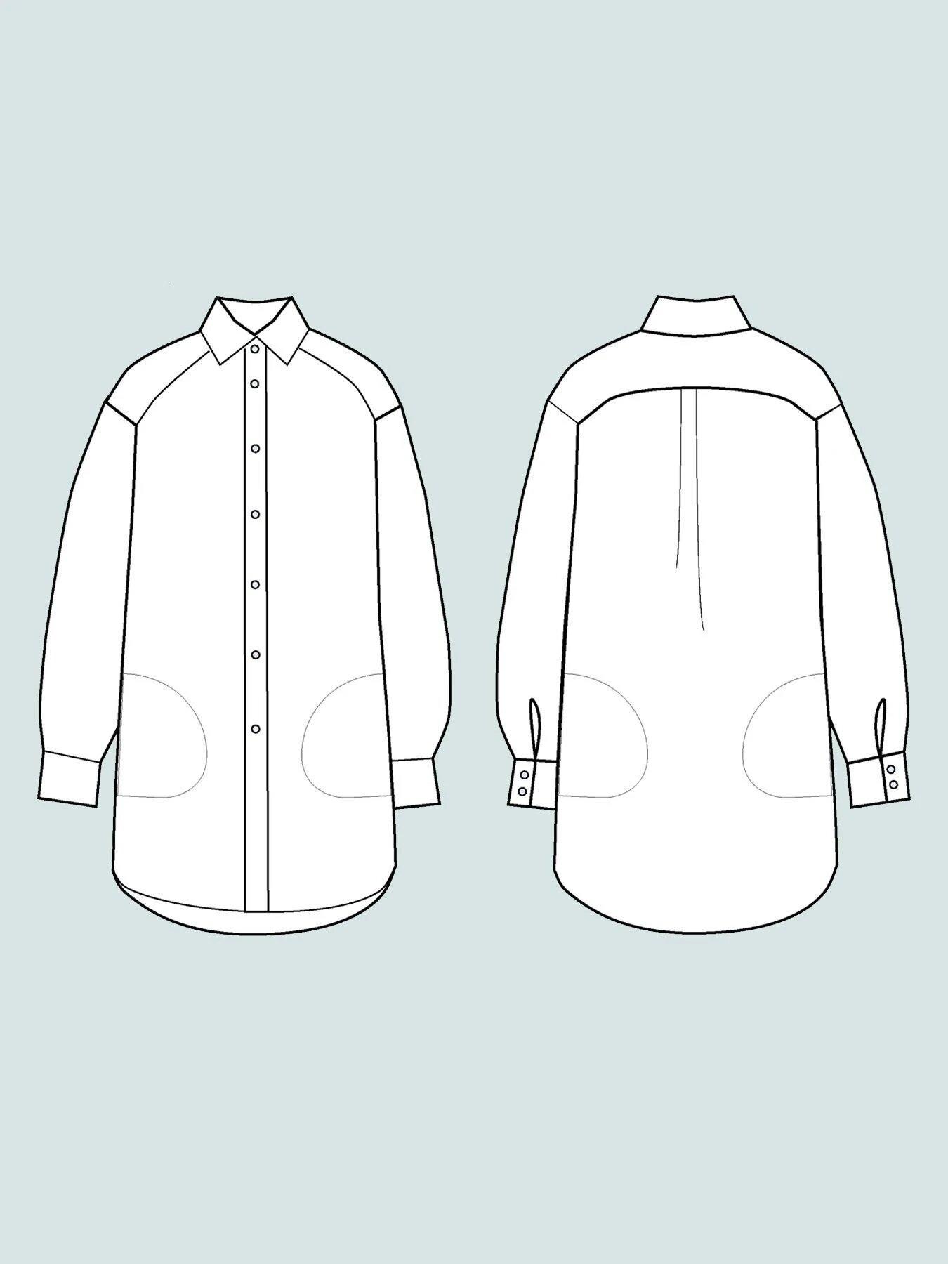 oversized shirt schnittmuster