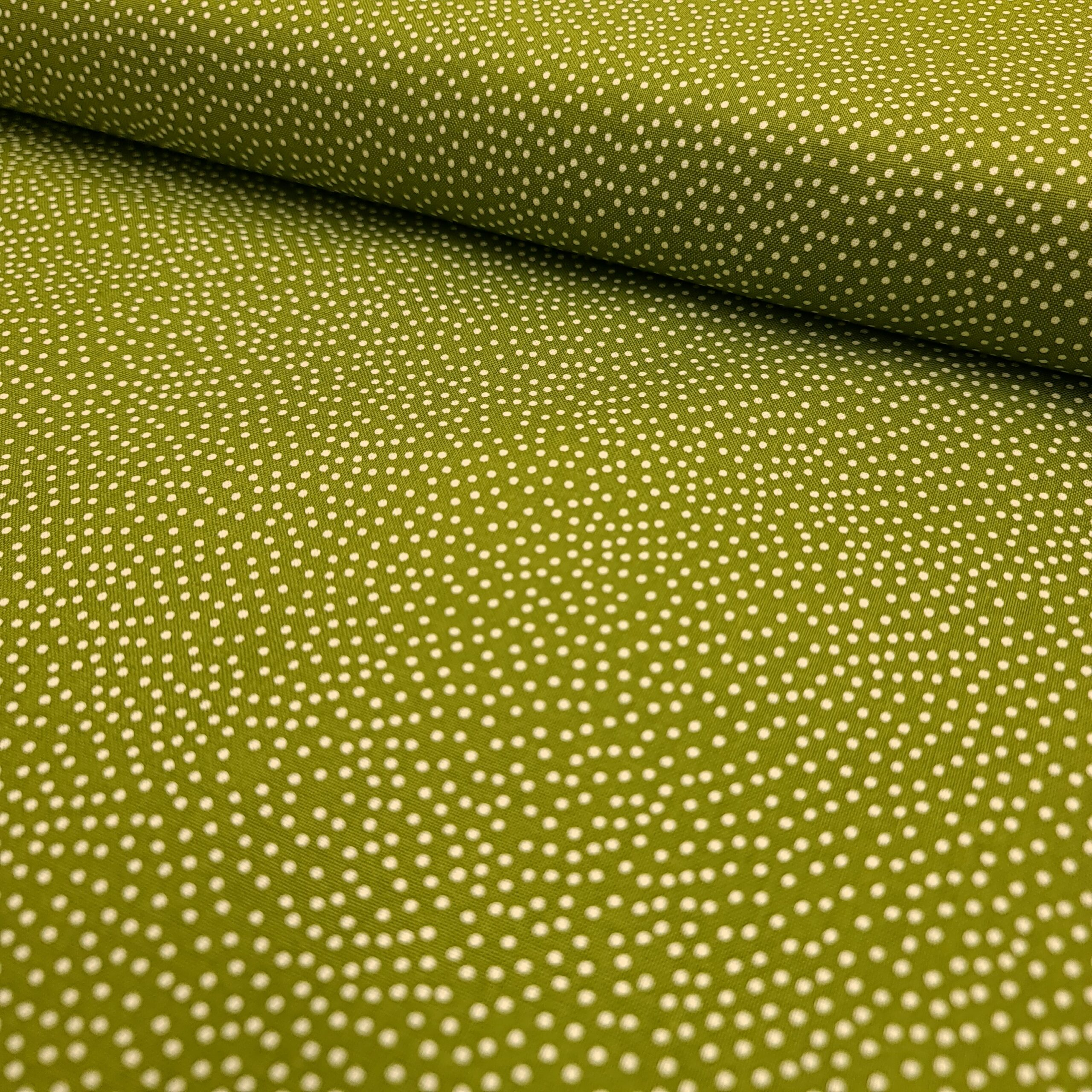 garden pindot punkte baumwolle grün