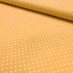 Baumwollpopeline gelb mit Punkten