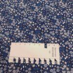 blumengarten blau baumwollpopeline
