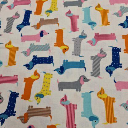 baumwollpopeline bunte hunde