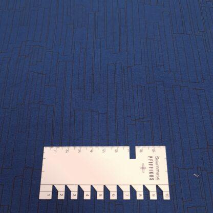 baumwolle dunkelblau grafisches muster