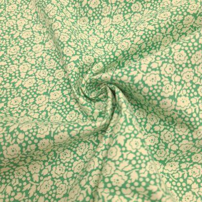 baumwollpopeline blumenmeer grün