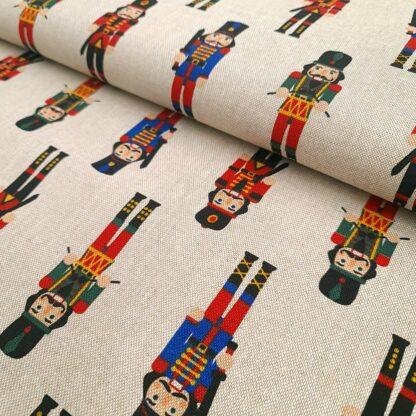 nussknacker deko stoff baumwolle