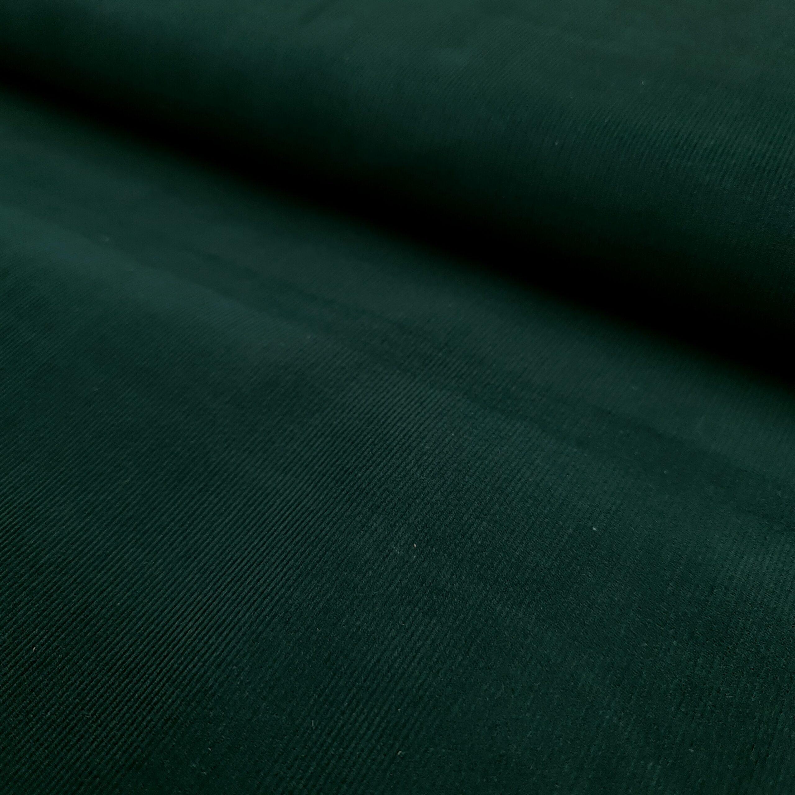 babycord dunkelgrün baumwolle