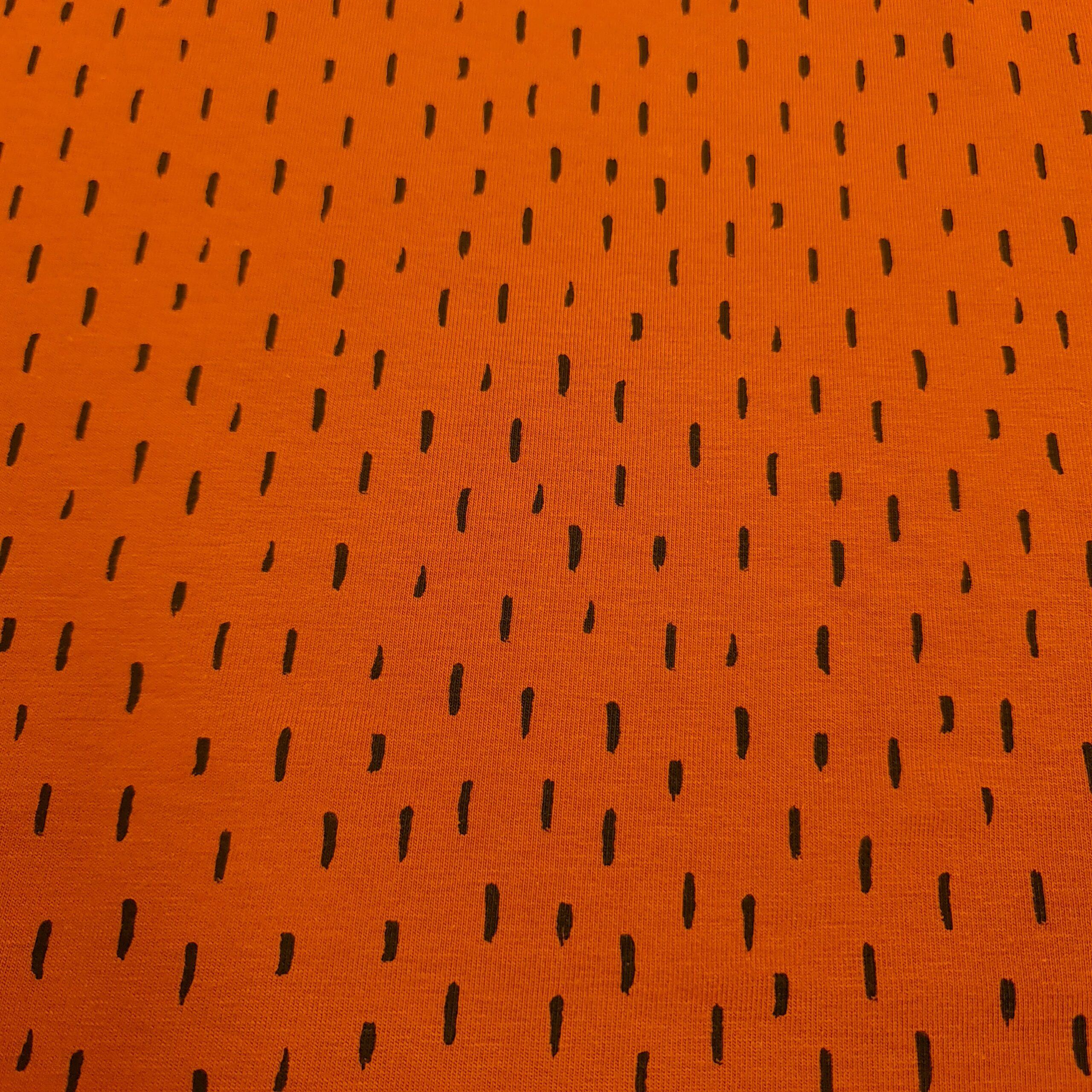 jersey orange mit schwarzen pinselstrichenA