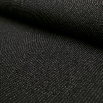 wollestoff diagonal grau