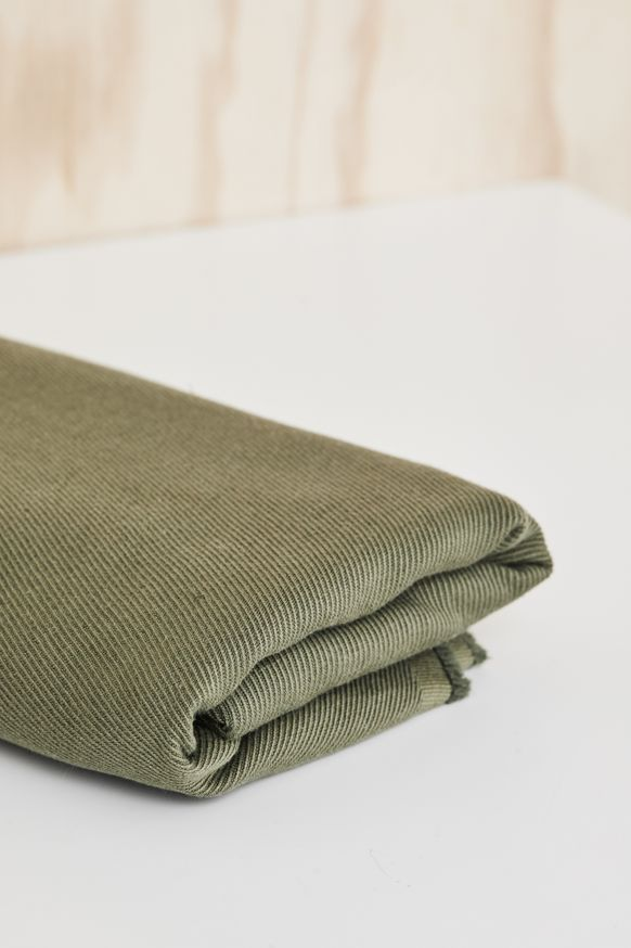 linen cotton twill, mind the maker, OLIVE GREEN