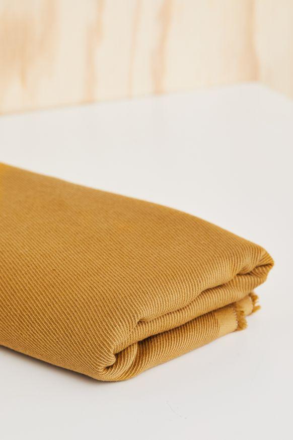 linen cotton twill, mind the maker, DRY MUSTARD