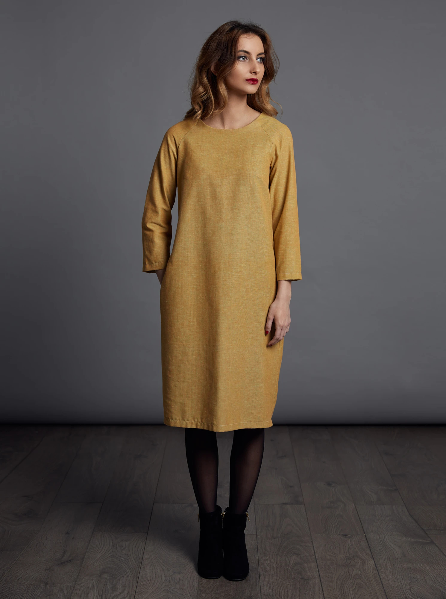 the gathered dress, schnittmuster, the avid seamstress