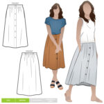 bonnie woven skirt, schnittmuster, style arc